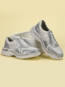 Kožené sneakersy s brokátom