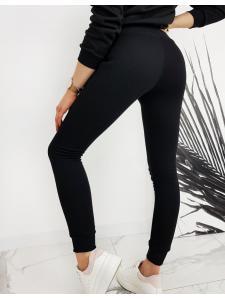 Čierne dámske teplákové nohavice Fits