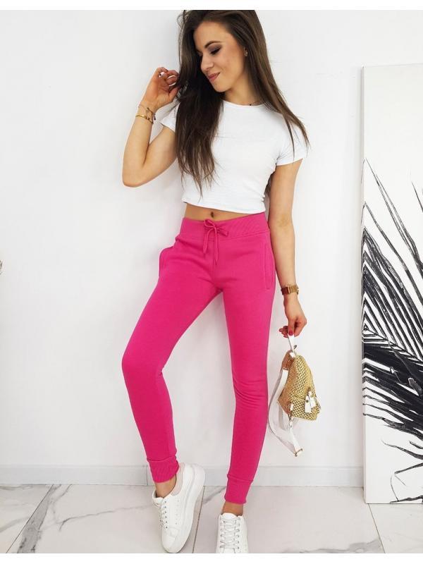 Ružové dámske teplákové nohavice Fits