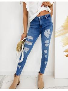 Modré dámske džínsy Skinny FIt Micandos