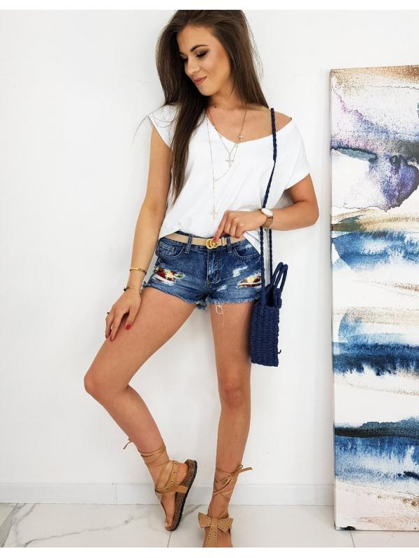 Modré dámske šortky Flo
