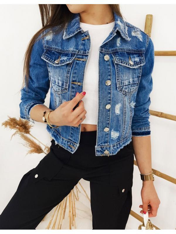 Modrá dámska džínsová katana Semil