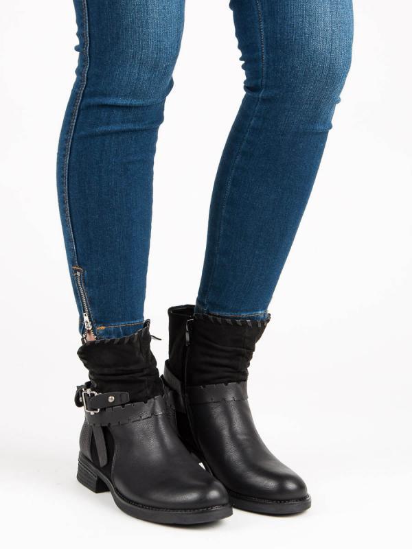 Čierne topánky Workery 177-PA-B