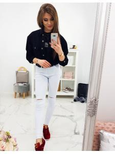 Biele dámske nohavice
