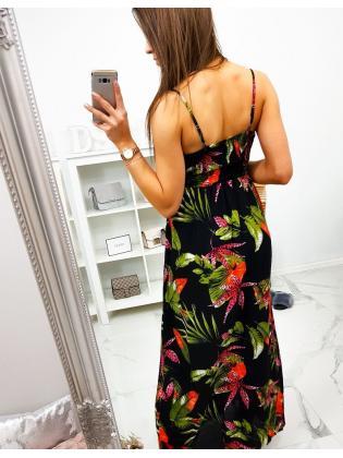 Šaty Tropikana Maxi čierne