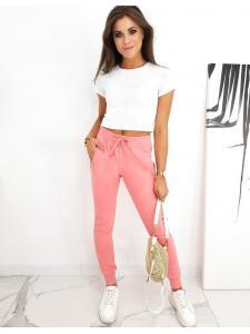 Ružové dámske tepláky Fits
