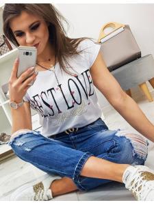 Dámske tričko Best Love s potlačou biele