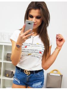 Dámske tričko City s potlačou smotanové