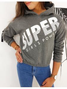Dámska mikina Super Girl tmavošedá