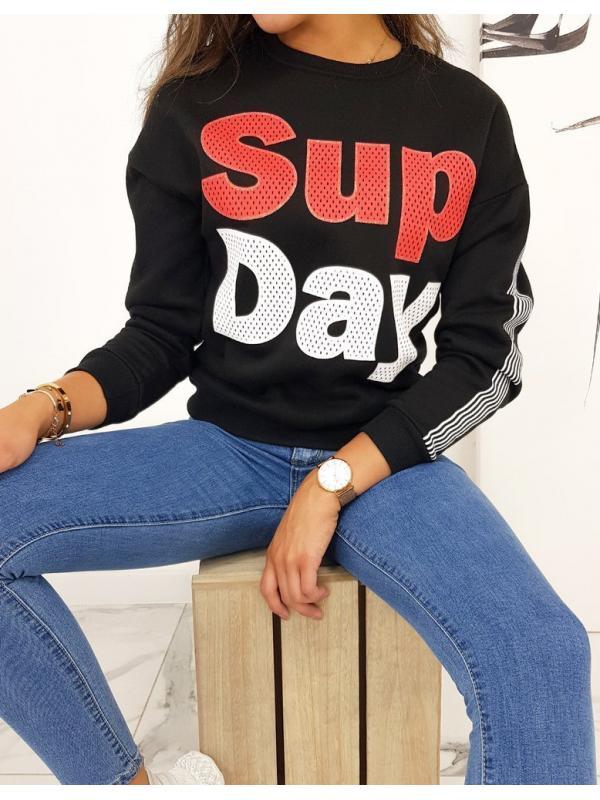 Dámska mikina Sup Day čierna