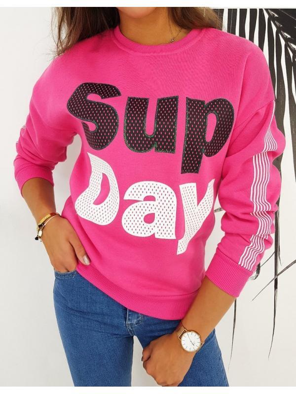 Dámska mikina Sup Day ružová