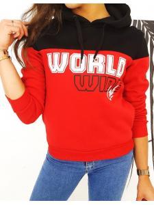 Dámska mikina World červená