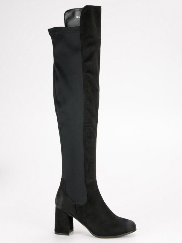 Čierne čižmy Vinceza YQE19-1773B