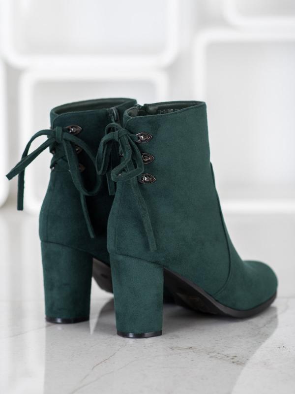Brokátové topánky na podpätku 70502NE