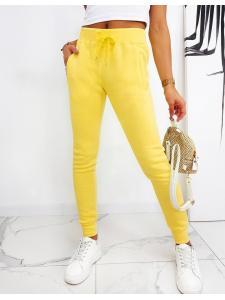 Dámske nohavice Fits žlté