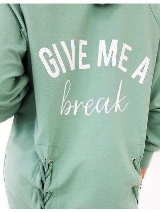 Šaty Break Me mätové