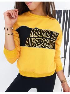 Žltá dámska mikina Make It