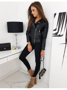 Čierna dámska ramoneska bunda Feels
