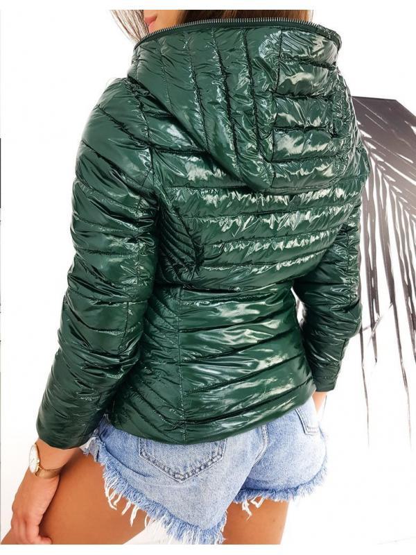 Prešívaná dámska zelená bunda Deisell