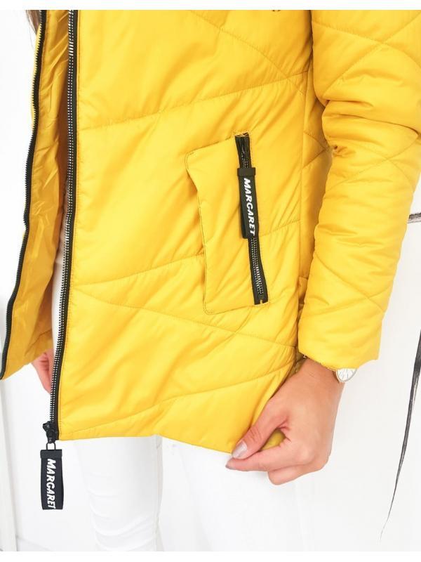 Dámska prešívaná bunda Margaret žltá