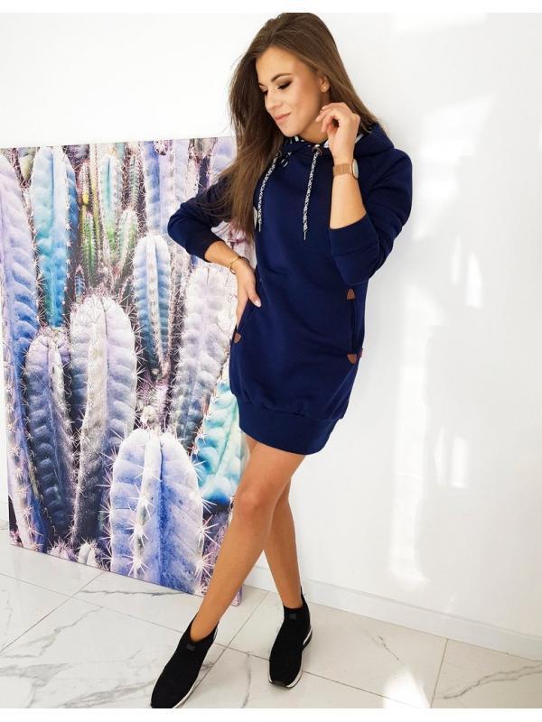 Tmavomodré šaty Carmeno
