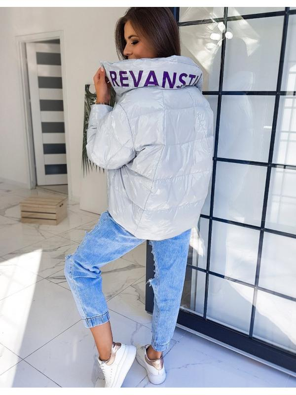 Svetlošedá dámska bunda Revan
