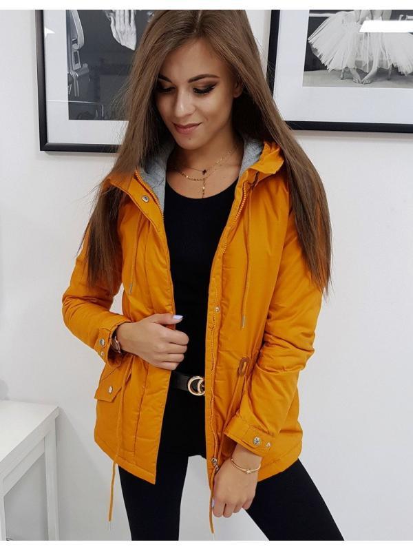 Žltá zimná párka bunda Ever