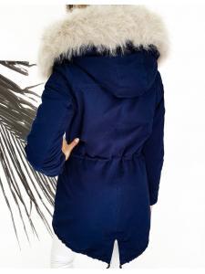 Tmavomodrá dámska párka bunda Destons