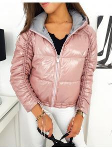 Ružová pánska obojstranná prešívaná bunda Suvi