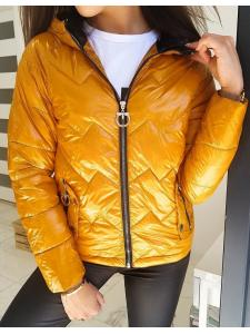 Prešívaná dámska bunda Flence žltá