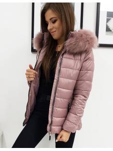 Dámska prešívaná ružová zimná bunda Sara