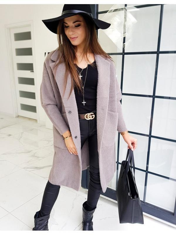 Dámsky kapučínový kabát ala Alpaka Basic