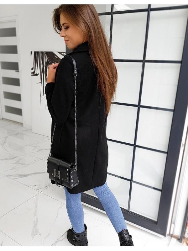 Dámsky čierny kabát Modello