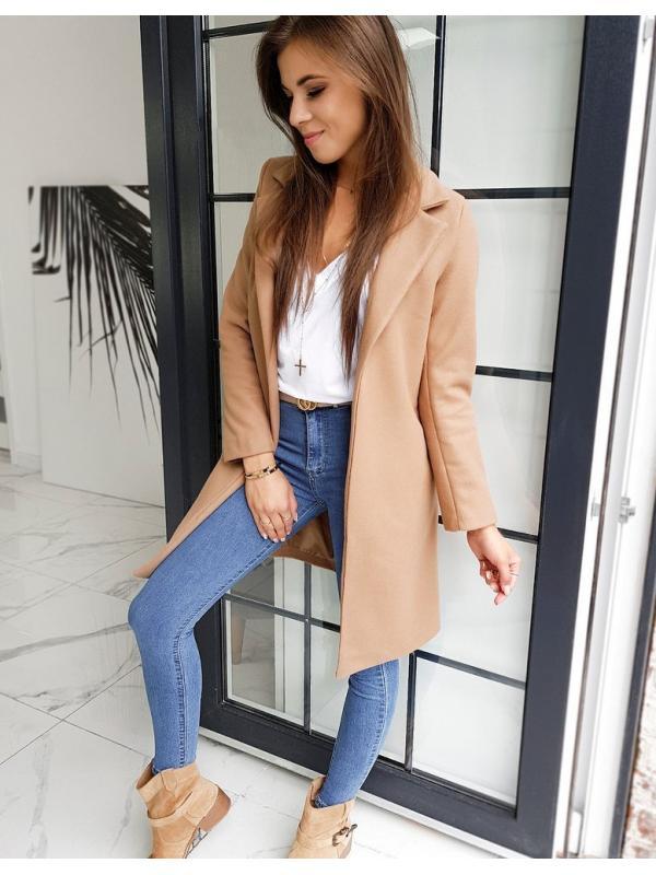 Dámsky hnedý kabát Modello