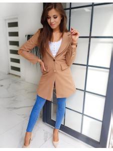 Hnedý dámsky kabát Bella