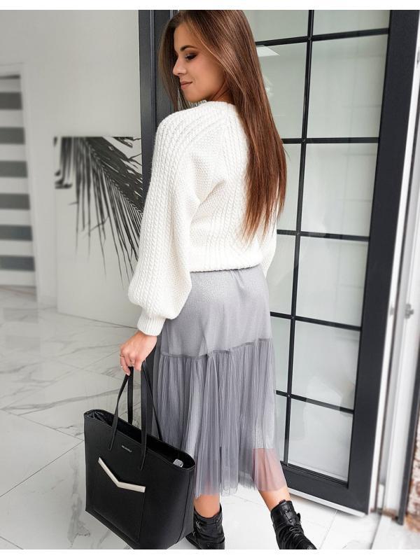 Šedá pánska sukňa Maxi Betty Tulle