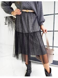 Čierna pánska sukňa Maxi Betty Tulle