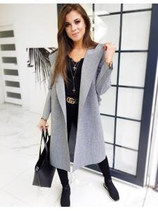 Svetlošedý dámska kabát Basic Moderno
