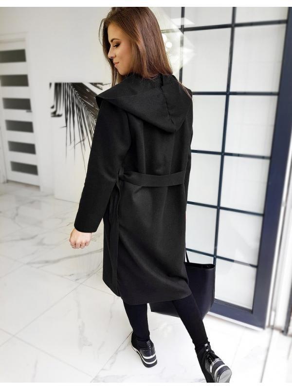 Čierny dámska kabát Basic Moderno