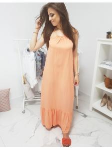 Pomarančové dlhé šaty