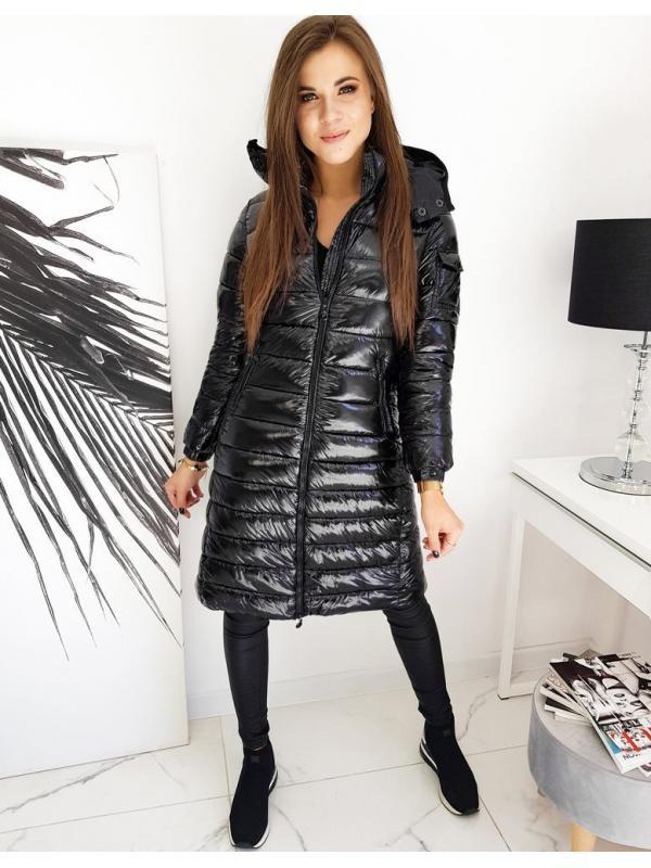 Čierny dámsky prešívaná kabátik Bolonia
