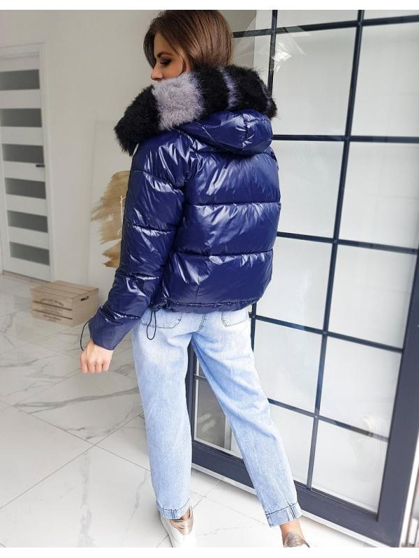 Tmavomodrá dámska prešívaná bunda Sephia
