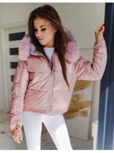 Ružová dámska prešívaná bunda Sephia