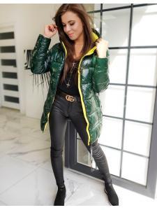 Dámsky prešívaný kabátik Samantha zelený