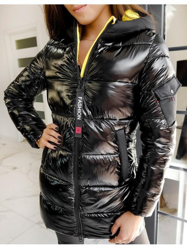 Dámsky prešívaný kabátik Samantha čierny