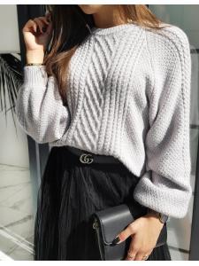 Svetlošedý dámsky sveter Tulium