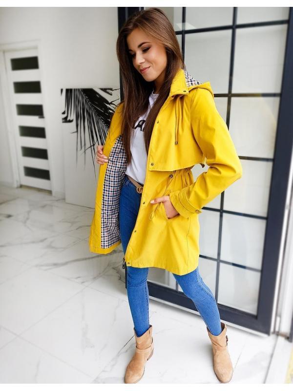 Žltá dámska párka bunda Kiara
