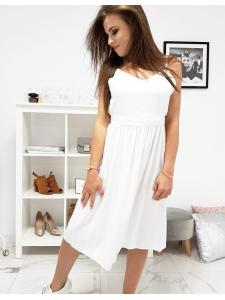 Biele šaty na ramienkach