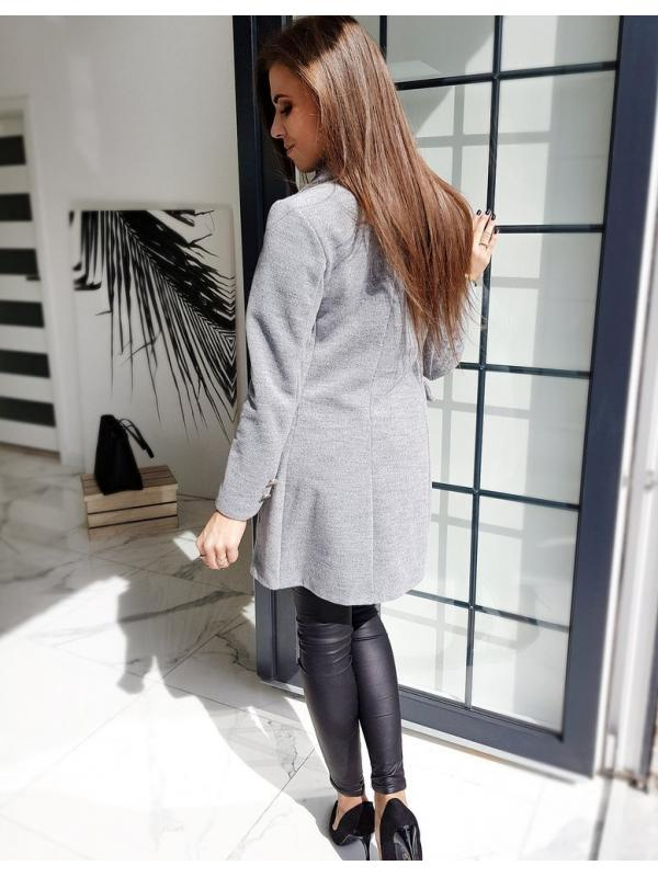 Svetlošedý dámsky kabát Bella