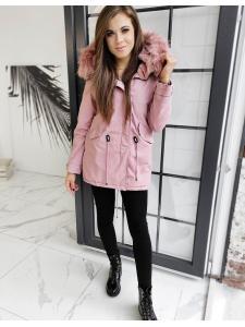 Dámska ružová párka bunda Destons